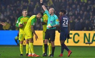 Tony Chapron qui s'enfonce, le 14 janvier 2017 à Nantes.