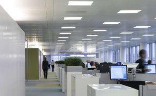 Bureaux en open-space à Londres.
