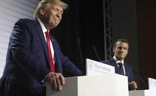 Donald Trump et Emmanuel Macron lors d'une conférence de presse du G7 à Biarritz en août 2019.