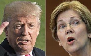 Donald Trump et la sénatrice démocrate Elizabeth Warren croisent souvent le fer à distance.