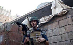 Le reporter James Foley le 5 novembre 2012 à Alep en Syrie