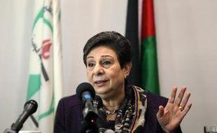 Hanan Ashrawi le 28 novembre 2012 à Ramallah