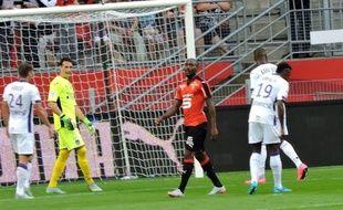 L'avant-centre du Stade Rennais Giovanni Sio, lors du match contre Toulouse, le 29 août 2015.