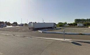 Une des aires d'autoroute franco-belge où avaient lieu les vols.