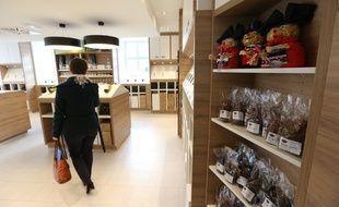 Strasbourg le 6 novembre 2014. Le magasin La Nouvelle Douane est un point de ventes sans intermediaires producteurs consommateurs au centre de la ville.