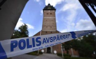 Lorsque la police est arrivée à la cathédrale de Strängnäs les truands avaient déjà pris la fuite.