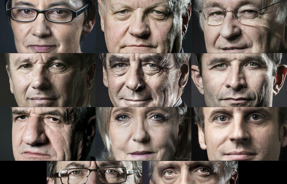 Les onze candidats à la présidentielle de 2017 – JOEL SAGET, Eric FEFERBERG / AFP