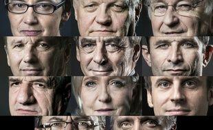 Les onze candidats à la présidentielle de 2017