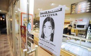 Un appel à témoin concernant la disparition de Laetitia Perrais est affiché le 22 janvier 2011 sur la porte d'une boulangerie de Pornic (Loire-Atlantique).