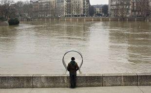 La Seine en crue, le 27 janvier 2018.