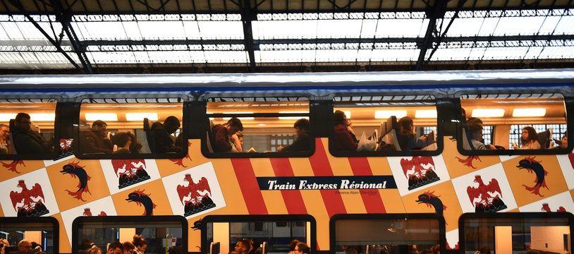 Un TER de la région Paca en gare de Marseille