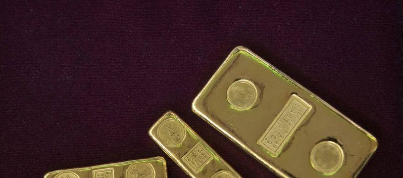 Des lingots d'or en Thaïlande le 16 avril 2020.