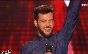 Capture d'écran TF1. Claudio Capéo, The Voice