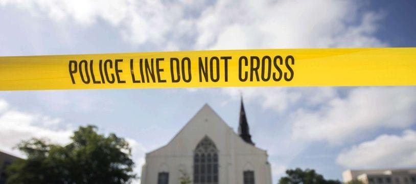 L'église épiscopale méthodiste africaine Emanuel à Charleston, en Caroline du Sud, où Dylann Roof, un partisan de la suprématie blanche, a tué neuf paroissiens en 2015.