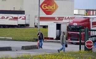 L'abattoir Gad en liquidation judiciaire, à Josselin dans le Morbihan, le 11 août 2014