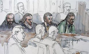 Dessin de Farid Benyettou lors de son procès en mars 2008 à Paris.