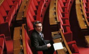 Le député Thomas Thévenoud à l'Assemblée Nationale, le 28 novembre 2014