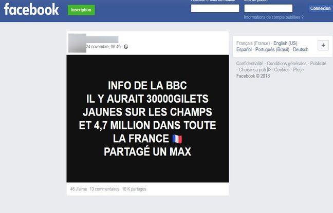 Ce post qui relaie une intox a été partagé plus de 10.000 fois sur Facebook.