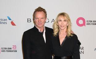 Le chanteur Sting et sa femme, la productrice Trudie Styler