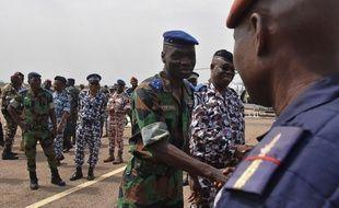 Le général Sekou Touré arrive à Bouaké le 13 janvier 2017 pendant les mutineries des soldats ivoiriens.