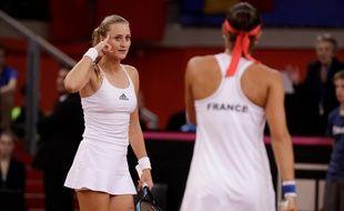 Caroline Garcia et Kristina Mladenovic jouent un match de Fed Cup décisif, ce dimanche, face à l'Australie.