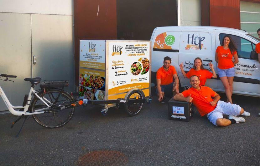 Strasbourg : Hop'lunch, la start-up qui livre des repas chauds dans les entreprises