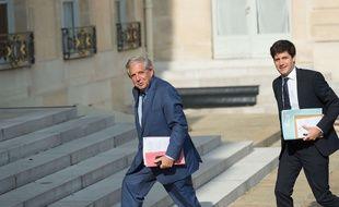 Jacques Mézard et Julien Denormandie, le 28 août 2017 à l'Elysée.