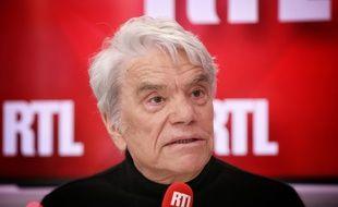 Bernard Tapie, en mai 2019 au micro de RTL.