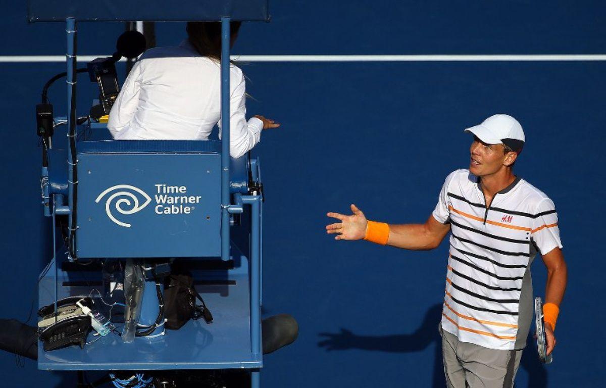 Berdych s'énerve auprès d'un arbitre lors de l'US Open 2015 (photo d'illustration).  – STREETER LECKA / GETTY IMAGES NORTH AMERICA / AFP
