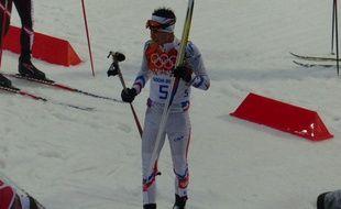 Le Français Jason Lamy-Chappuis, après sa 7e place aux Jeux olympiques de Sotchi, le 18 février 2014