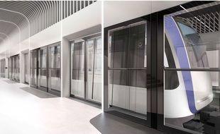 Un esquisse des rames d'Alstom qui équiperont la ligne 3 du métro de Toulouse en 2028.
