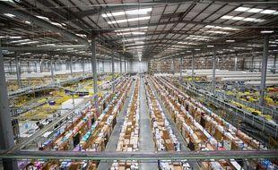 Un entrepôt d'Amazon au Royaume-Uni.