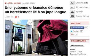 Capture d'écran de La République du Centre.