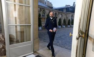 Edouard Philippe s'exprime devant la presse à Matignon, le 6 décembre 2019.