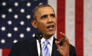 Obama lors de son discours sur l'état de l'Union, le 28 janvier 2014.