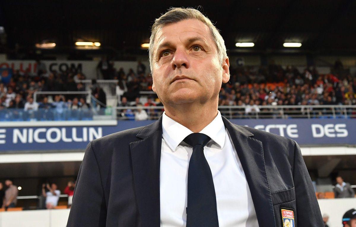 Bruno Genesio, ici à Montpellier, est sous contrat jusqu'en 2019 avec l'OL. PASCAL GUYOT – AFP