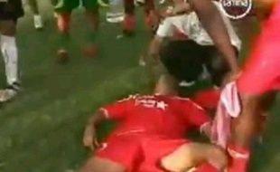 Capture d'écran d'un joueur empoisonné au bidon piégé au Pérou, le 17 octobre 2010