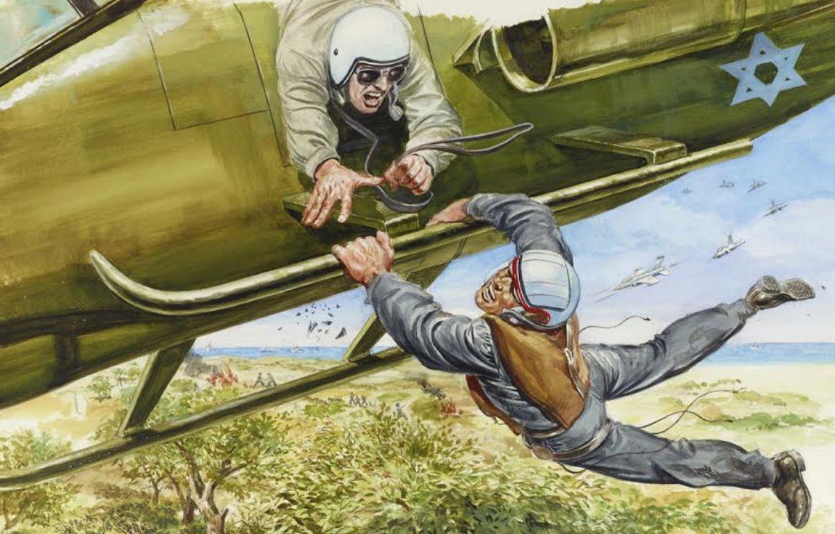 «Récupération in extremis d'un soldat israélien cerné par l'ennemi», dessin d'Angelo Di Marco. – Angelo DI MARCO