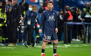 Lionel Messi, ici au Parc des Prince avant le match face à l'OL.