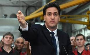 Le chef du parti travailliste britannique, Ed Miliband, à Hudderdfield, le 1er avril 2015