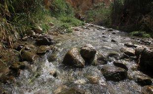 La source de Ein Fara dans la réserve naturelle de Nahal Prat du désert de Judée en Cisjordanie, le 19 avril 2014