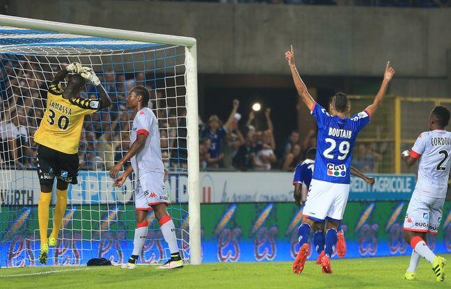 Avec dix réalisations en Ligue 2, Khalid Boutaïb est le quatrième meilleur buteur du championnat.
