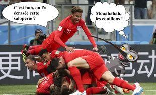 Les moustiques ont sévi lors du match Angleterre-Tunisie.