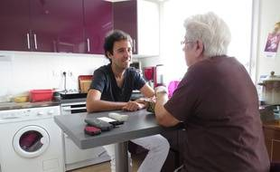 A Nantes, le 18 ao˚t 2014- Antoine a choisi l'habitat intergenerationnel