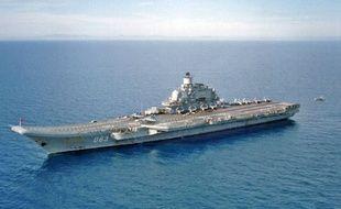 Le porte avions russe Kuznetsov, sur le modèle duquel le
