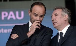 Edouard Philippe et François Bayrou à Pau.