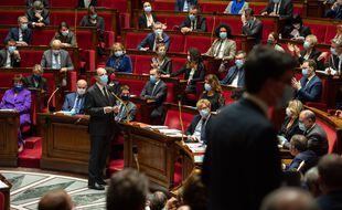 Les députés et Jean Castex, le Premier ministre, à l'Assemblée nationale.