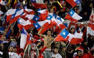 Des supporters du Chili lors d'un match international face à l'Uruguay, le 24 juin 2015.