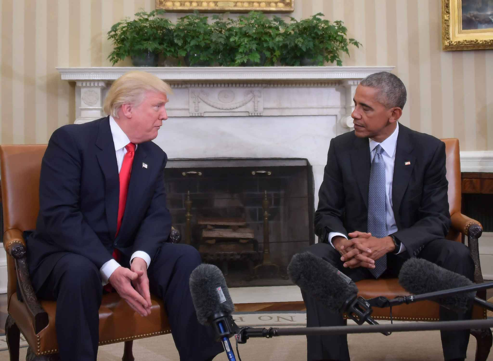 Donald trump pr sident barack obama voque une premi re for Barack obama maison blanche