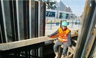 Les travaux du prolongement de T2 à Eurexpo viennent de débuter à Bron.